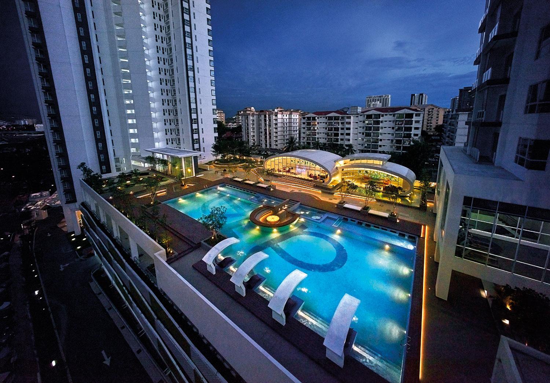 Aerial Swimming Pool & Multipurpose Hall