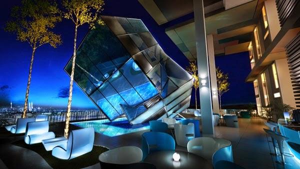 Iconic Glass Cube Lounge